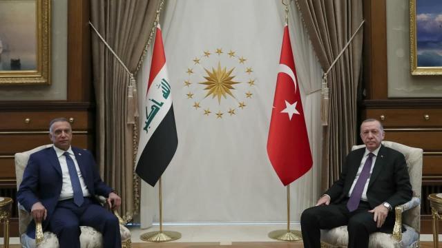 Cumhurbaşkanı Erdoğan Irak Başbakanı Kazımi ile görüştü