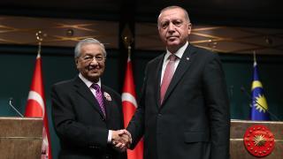 Cumhurbaşkanı Erdoğan, Mahathir Muhammed ile görüştü