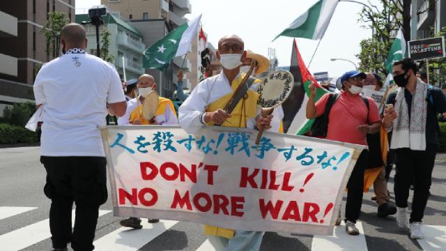 Japonyada İsrailin eylemleri protesto edildi