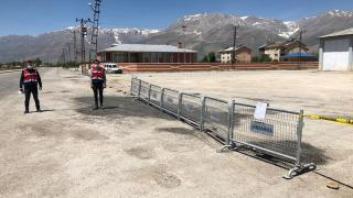 Tunceli'de bir mahalle karantinaya alındı