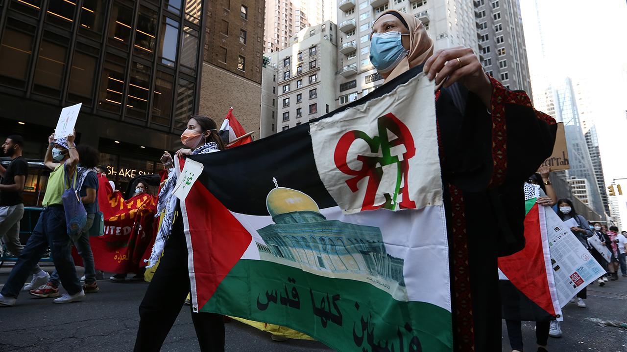 New York'ta ABD'nin İsrail'e desteği protesto edildi