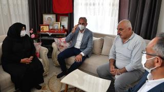 Cumhurbaşkanı Erdoğan şehit ailesiyle telefonda görüştü