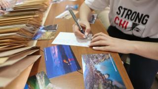 Devlet korumasındaki çocuklar kartpostallarla eski bayram geleneğini yaşattı