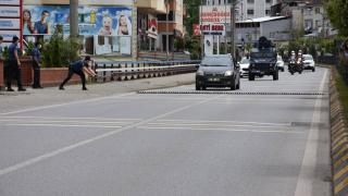 Trabzon'da silahlı soygun tatbikatı