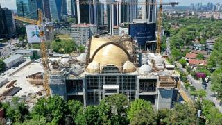 Barbaros Hayrettin Paşa Camii'nin kaba inşaatının yüzde 75'i tamamlandı