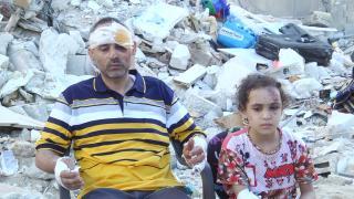 Ailesini kaybeden Gazzeli baba: Hayallerim çocuklarımla beraber enkaz altında kaldı