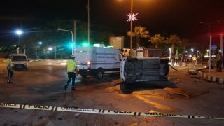 Manisa'da iki otomobil çarpıştı: 1 ölü, 2 yaralı