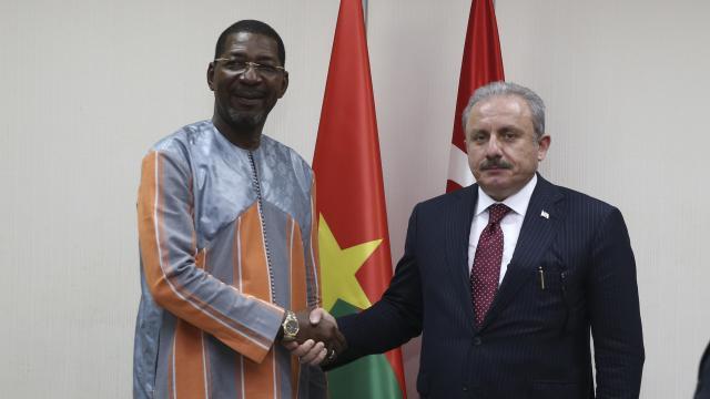 TBMM Başkanı Şentop ile Burkina Fasolu mevkidaşı Filistini görüştü