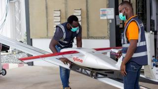 Nijerya'da aşılar ulaşılması zor bölgelere drone ile gönderiliyor