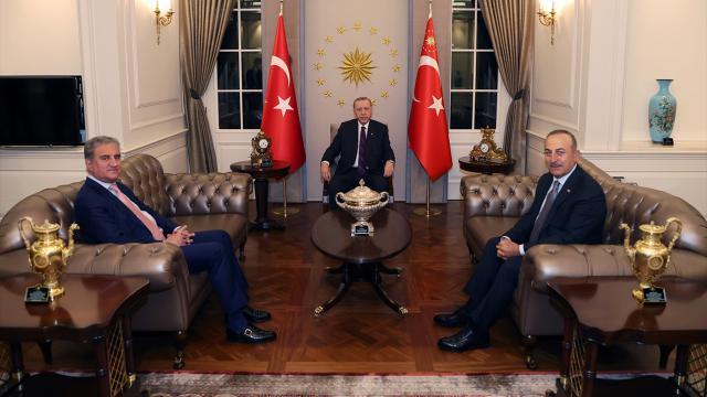Cumhurbaşkanı Erdoğan, Pakistan Dışişleri Bakanı Kureyşiyi kabul etti