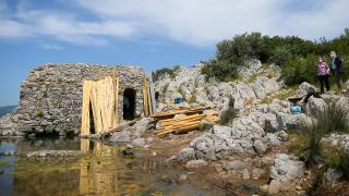 Roma dönemine ait taş hamam restore ediliyor