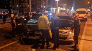 Dur ihtarına uymayan sürücü, kaza yapınca yakalandı