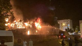 Zonguldak'ta market yangını