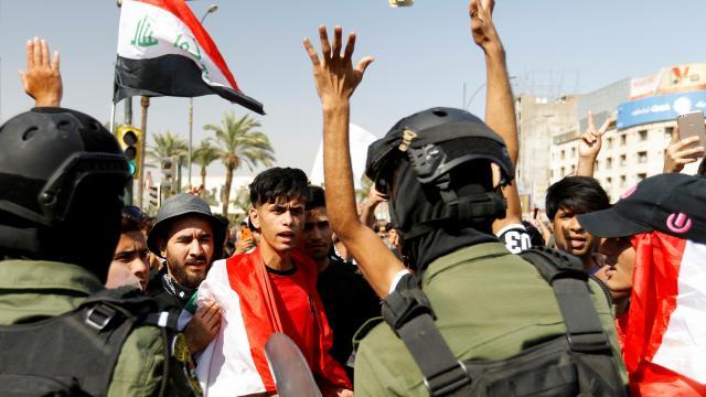 Irakta protestoculara ateş açıldı: 4 yaralı