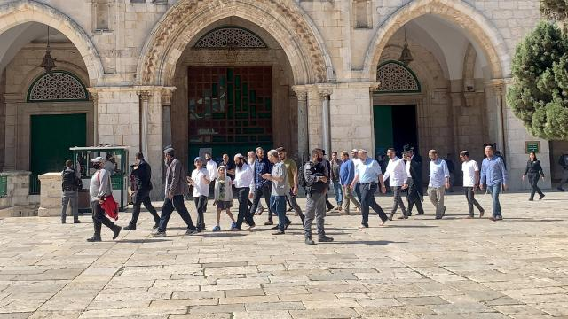 119 fanatik Yahudi Mescid-i Aksaya baskın düzenledi