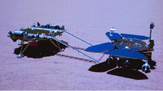 Çin'in uzay aracı Mars yüzeyinde