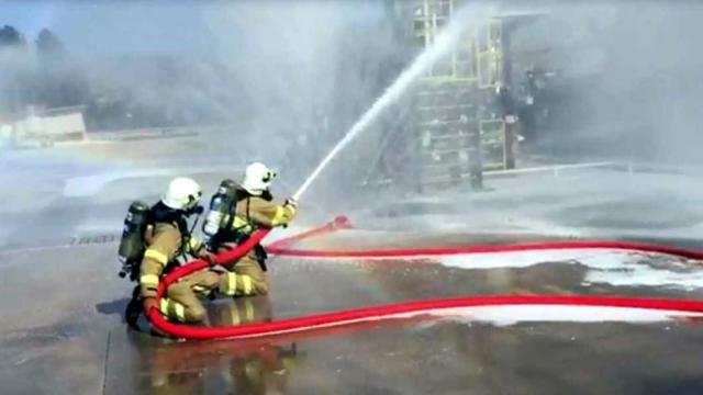 Kırıkkale Belediyesi itfaiye ekipleri rafineride yangın ve kurtarma tatbikatı gerçekleştirdi