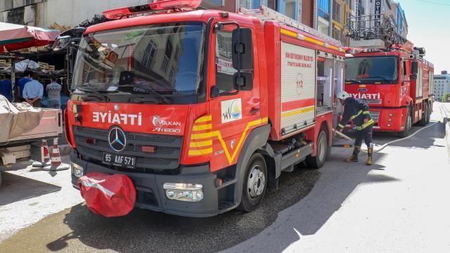 İstanbulda bir binada yangın çıktı
