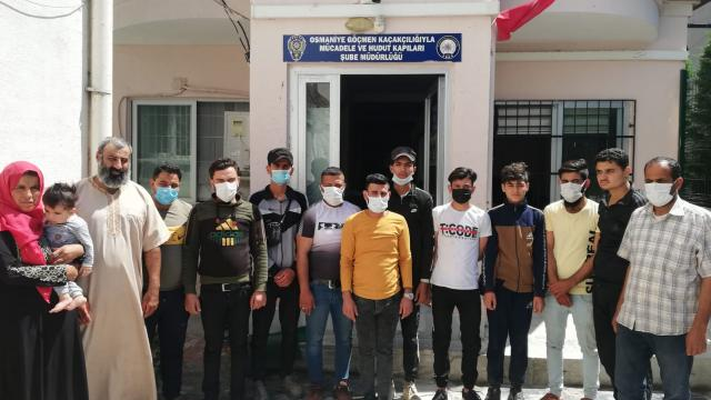 18 illegal immigrants caught on two buses in Osmaniye