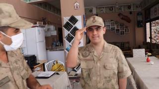 Down sendromlu Enes'in Jandarma olma hayali gerçek oldu
