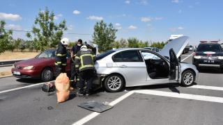 Aksaray'da zincirleme kaza: 1 yaralı