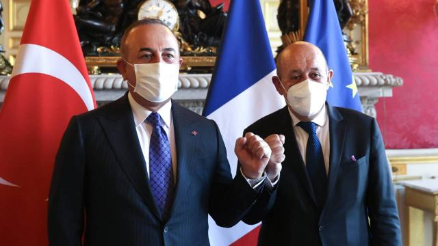 Fransadan Çavuşoğlu-Le Drian görüşmesine ilişkin açıklama