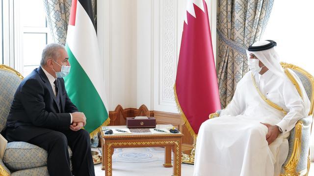 Filistin Başbakanı Iştiyye, Dohada Katarlı mevkidaşıyla görüştü