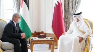 Filistin Başbakanı Iştiyye, Doha'da Katarlı mevkidaşıyla görüştü