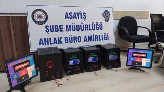 Aydın'da kumar makinesi sattığı iddia edilen 2 kişi yakalandı