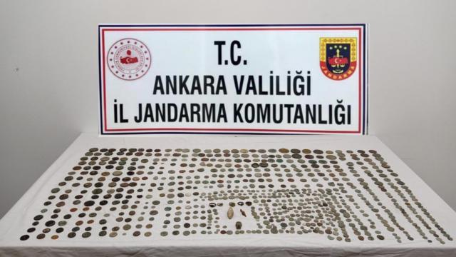 Ankarada 718 parça tarihi eser ele geçirildi