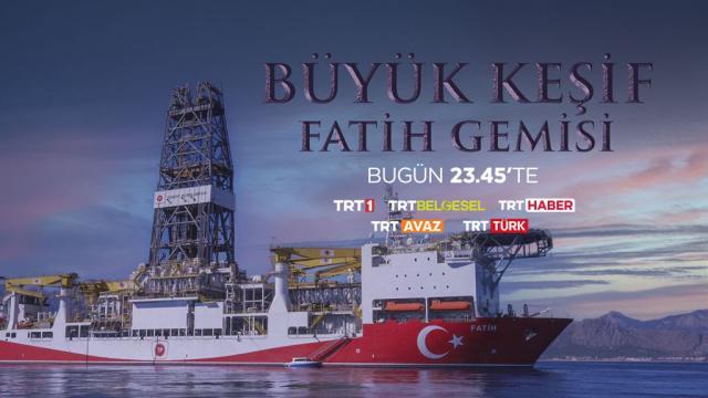 TRT'den özel belgesel: Büyük Keşif: Fatih Gemisi
