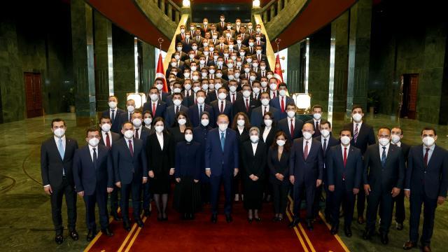 Cumhurbaşkanı Erdoğan kaymakam adaylarını kabul etti