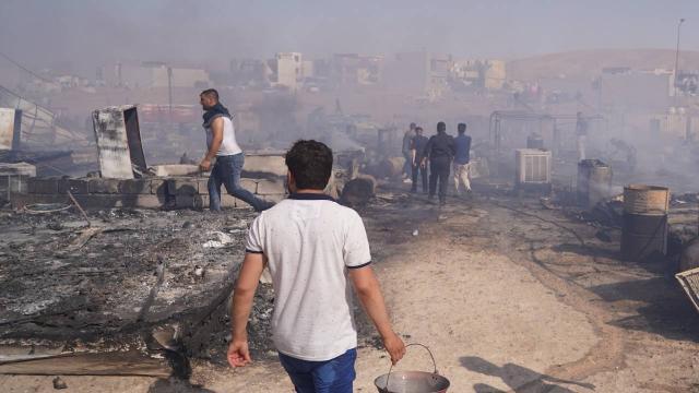 Terör örgütü PKK, Duhokta bir evi ateşe verdi