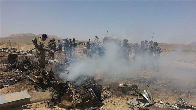 Afganistanda askeri helikopter düştü: 3 ölü, 1 yaralı
