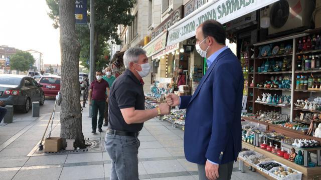 Büyükşehir Belediye Başkanı Uğur İbrahim Altay, esnafı ziyaret etti