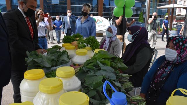 Orduda geleneksel köylü pazarındaki kadın üreticilere 500er liralık destek