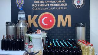 Ödemiş'te düzenlenen sahte içki operasyonunda 1 kişi yakalandı