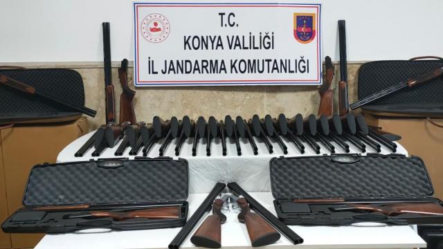 Konyadaki kaçak silah operasyonunda 85 av tüfeği ele geçirildi