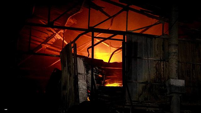 Bursada fabrika yangını