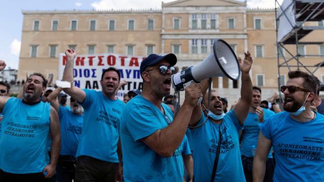 Yunanistanda genel grev: Binlerce çalışan, iş bıraktı