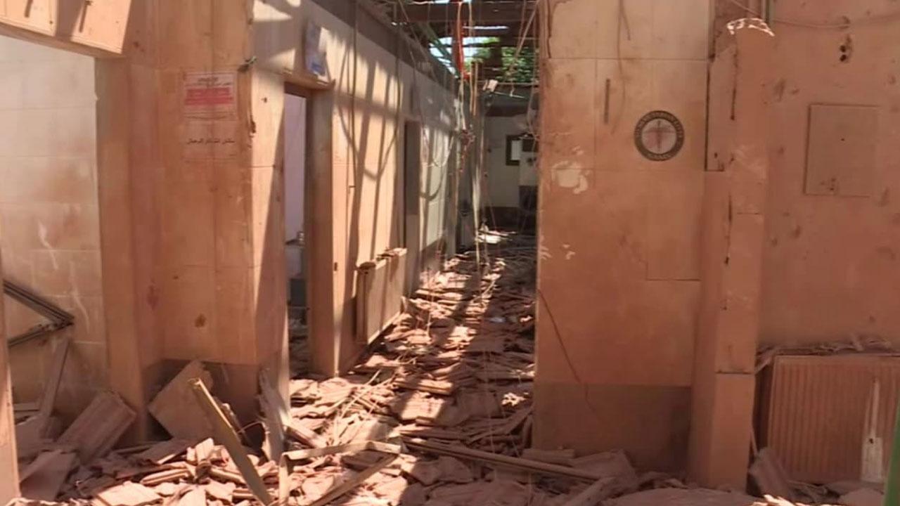 Terör örgütünün saldırdığı hastane TRT Haber'de