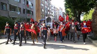"""""""Atatürk ve İstiklal Yolu Yürüyüşü"""" sona erdi"""