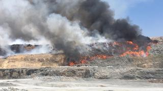 Kahramanmaraş'ta atık deposunda yangın