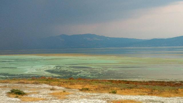 Burdur Gölünün rengi değişti