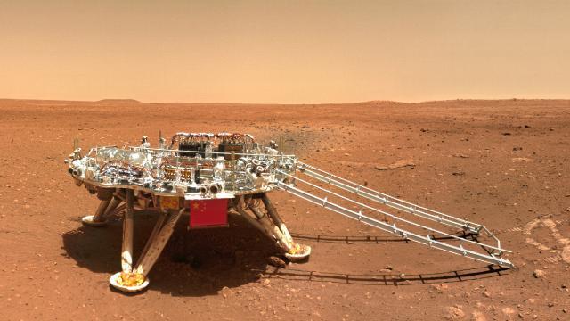 """Çinin Mars aracı """"Kızıl Gezegen"""" fotoğrafı gönderdi"""