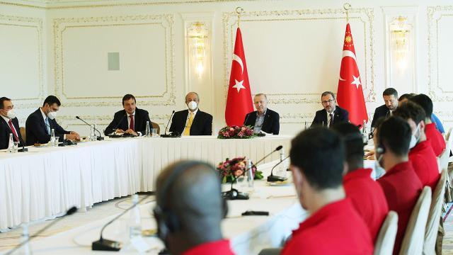 Cumhurbaşkanı Erdoğan, Anadolu Efesi kabul etti