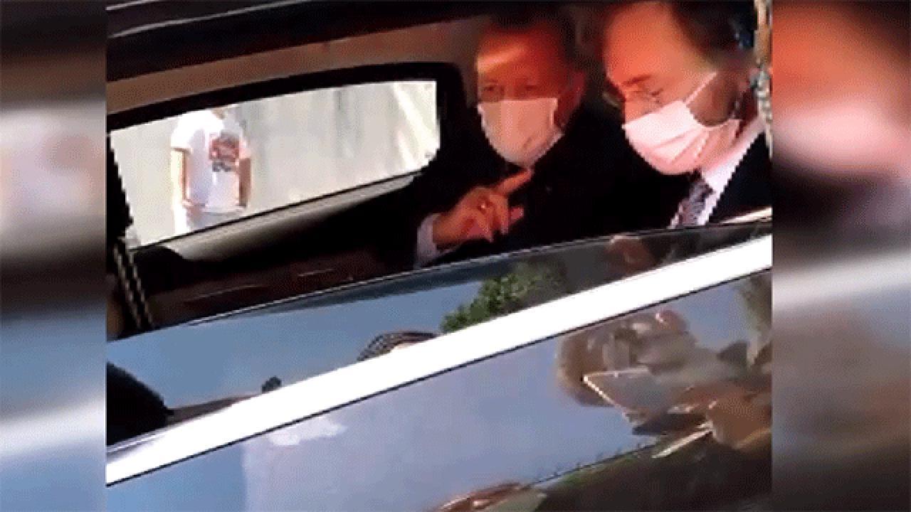 Cumhurbaşkanı Erdoğan aracını durdurdu, vatandaşlarla sohbet etti