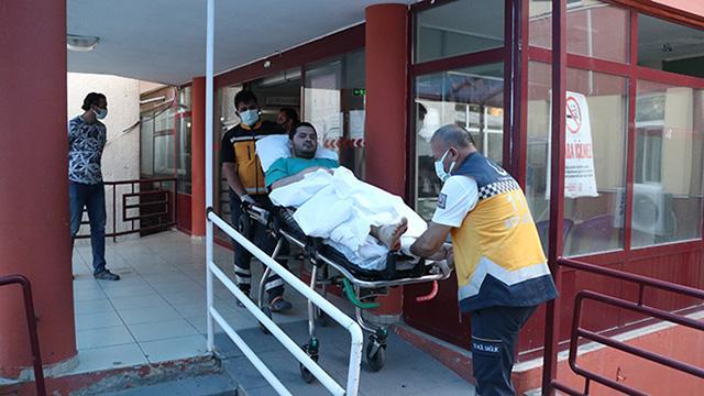 Kayseride bacağından vurulan doktor hastaneye kaldırıldı