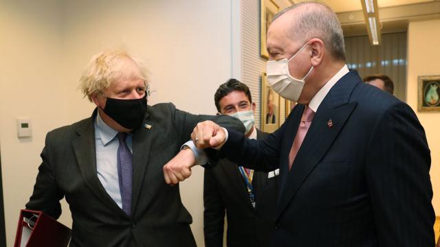 Cumhurbaşkanı Erdoğan, Johnson ile görüştü