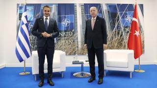 Cumhurbaşkanı Erdoğan, Miçotakis ile bir araya geldi